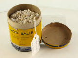 National Pharmacy Moth Ball Container with Sea Shells