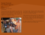 Zambia Preschool For Children Ages 0-5