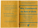 War, conscience & the rule of Christ : compiled from the encyclicals of Leo XIII, Benedict XV,...